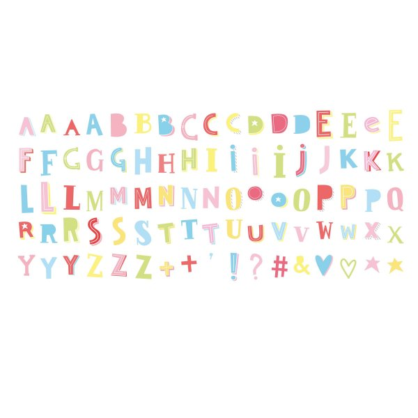 A little Lovely company Light Box letter set Funky color