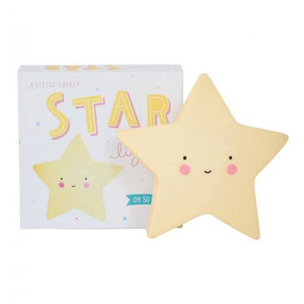 A little Lovely company φωτάκι νυχτός mini star light Yellow