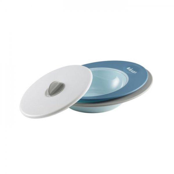 Beaba Σετ Πιάτων με Καπάκι 913392  Evolutive Ellipse Blue