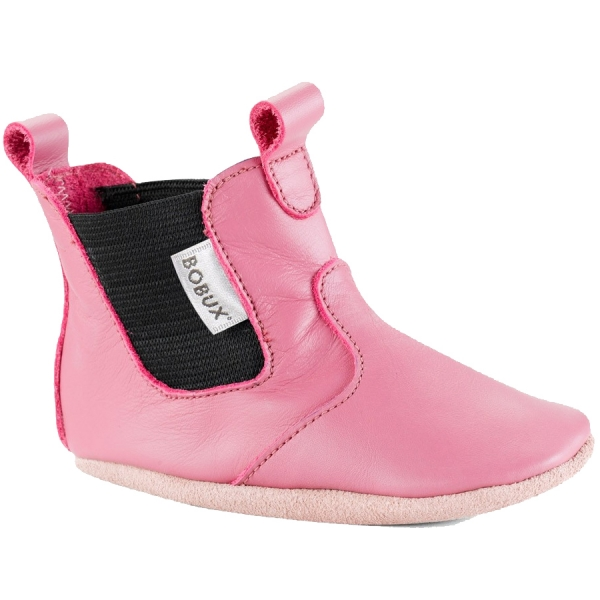 Bobux βρεφικό μποτάκι Bright Pink Chelsea Boot M Softsoles