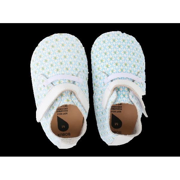 Bobux βρεφικά παπούτσια Grey/Tan Trim Trainer M softsoles