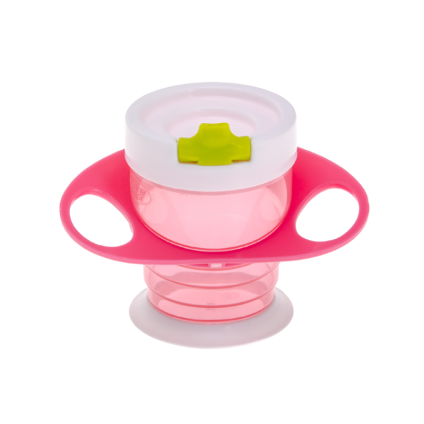 Brother Max Κούπα για ευκολή κατάποση (γουλιά) ροζ/πράσινο χρώμα