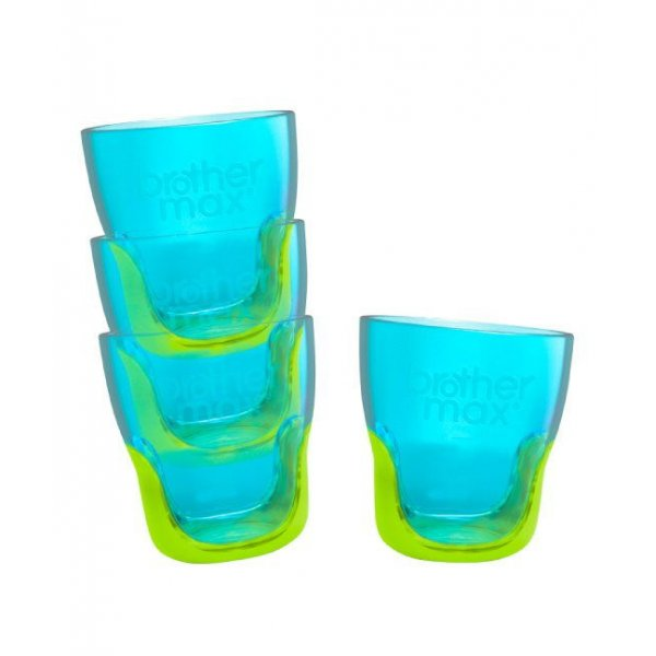 Brother Max Teach Me Cups εκπαιδευτικά ποτηράκια- blue/green 4 τεμάχια
