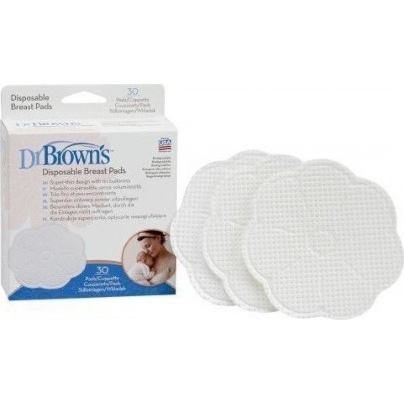 Dr Browns Επιθέματα στήθους μίας χρήσης (30 τεμ.) 4022-GB