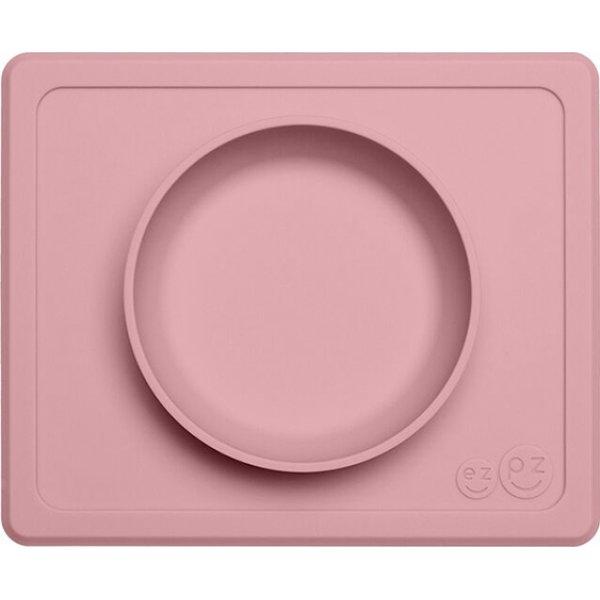 Ezpz Δίσκος και μπολ σε ένα Mini bowl in Blush