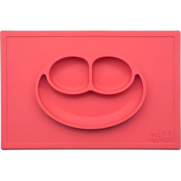 Ezpz Happy mat Δίσκος και πιάτο σε ένα in Coral