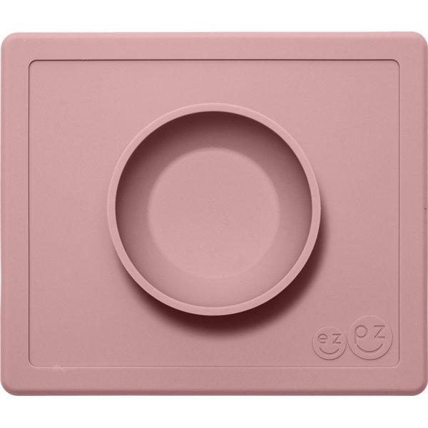Ezpz Δίσκος και μπολ σε ένα Happy bowl in blush