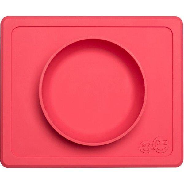 Ezpz Mini bowl Δίσκος και μπολ σε ένα in Coral