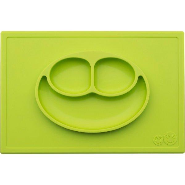 Ezpz Happy mat Δίσκος και πιάτο σε ένα in Lime