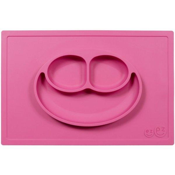 Ezpz Happy mat Δίσκος και πιάτο σε ένα in Pink