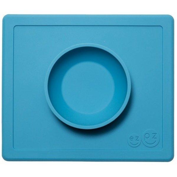 Ezpz Δίσκος και μπολ σε ένα Happy bowl in Blue