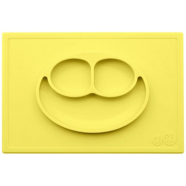 Ezpz Happy mat Δίσκος και πιάτο σε ένα in Yellow