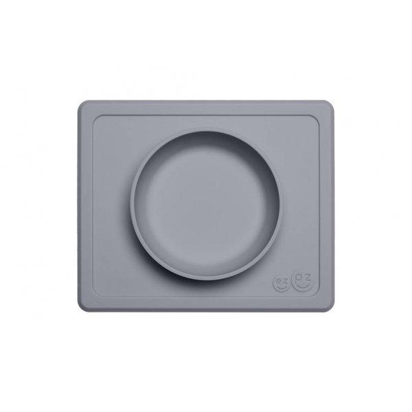 Ezpz Mini bowl Δίσκος και μπολ σε ένα in Grey