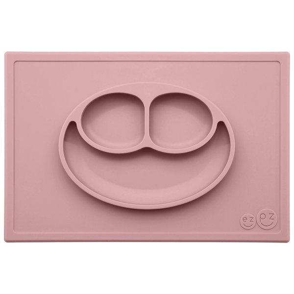 Ezpz Happy mat Δίσκος και πιάτο σε ένα in Blush