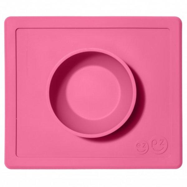 Ezpz Δίσκος και μπολ σε ένα Happy bowl in Pink