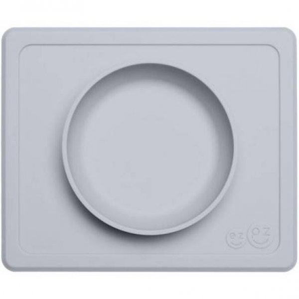 Ezpz Mini bowl Δίσκος και μπολ σε ένα in Pewter