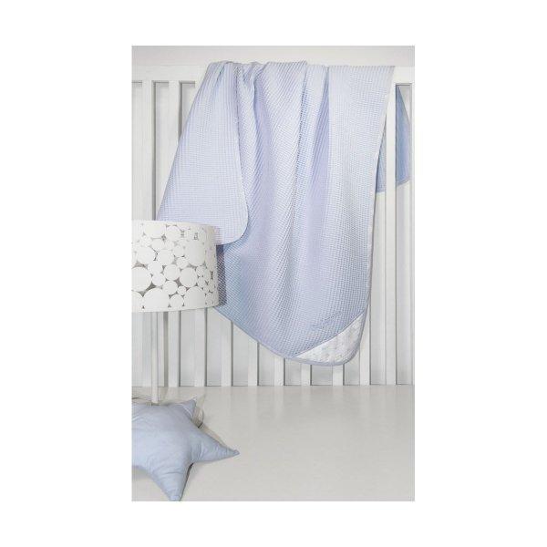 Guy Laroche Heaven light blue  βρεφική πικέ κουβέρτα 110Χ150cm