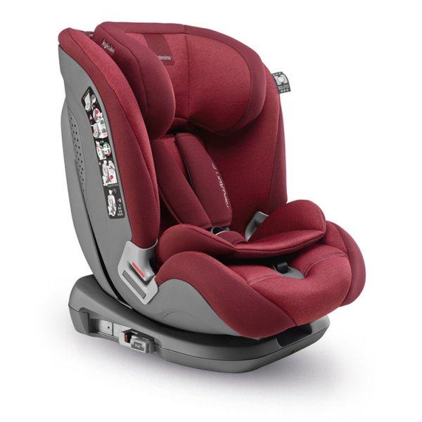 Inglesina  παιδικό κάθισμα αυτοκινήτου Newton I-fix Group 1/2/3 red