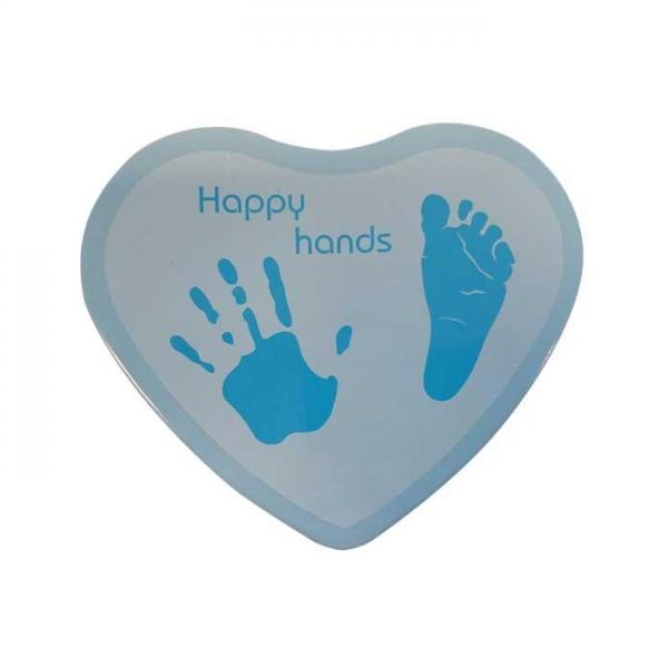 Xplory Happy Hands 2D Αναμνηστικό Αποτύπωμα -Heart Shape Blue