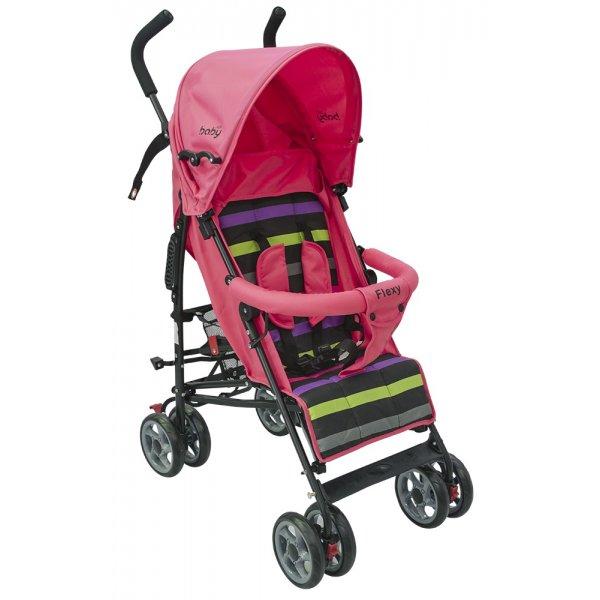 Just baby καρότσι μπαστούνι flexy pink
