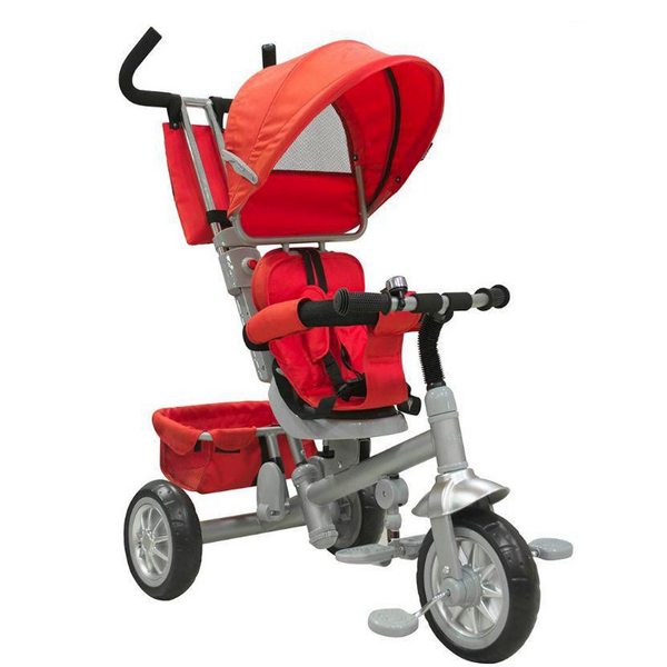 Just baby spin τρίκυκλο ποδηλατάκι με περιστρεφόμενο κάθισμα red/black