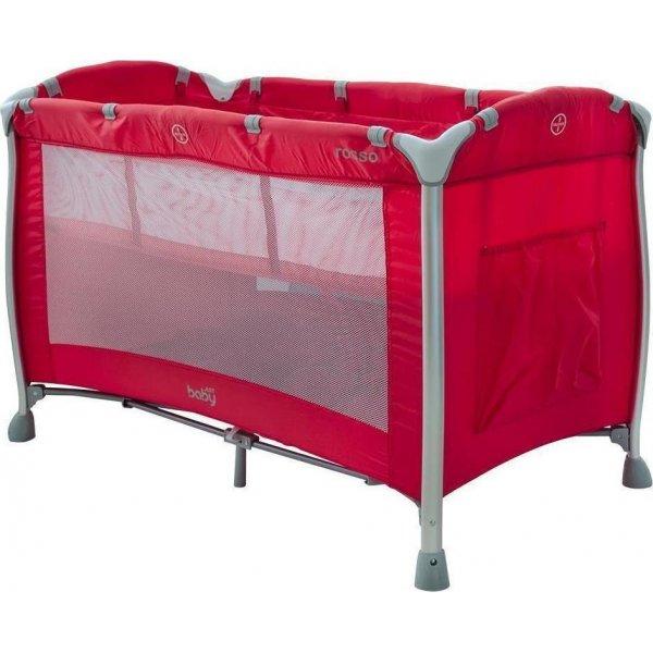 Jyst Baby Παρκοκρέβατο Rosso Aluminium 8048