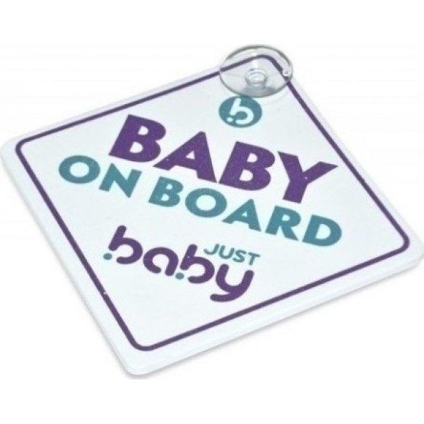 Jyst Baby BABY ON BOARD ΠΡΟΕΙΔΟΠΟΙΗΤΙΚΟ ΣΗΜΑ ΑΥΤ/ΤΟΥ