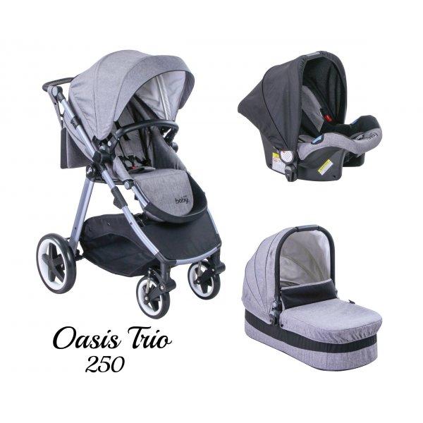 Just Baby Oasis Καρότσι 3 σε 1 Grey
