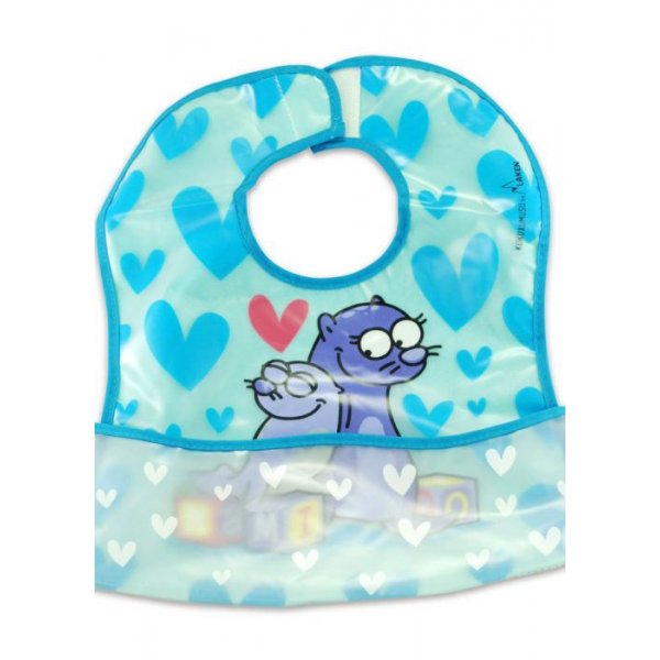Kukuxumusu Σαλιάρα Eva Foca μπλε  με τσέπη
