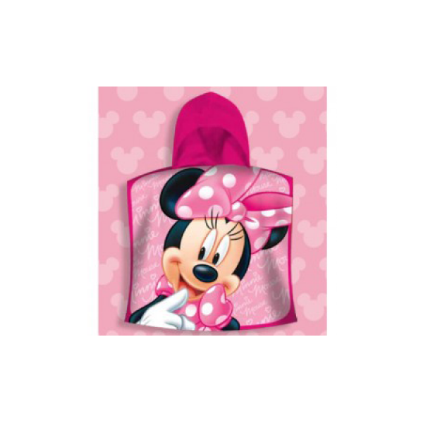 Disney Πόντσο Minnie Mouse κόκκινο 55Χ115 100% cotton