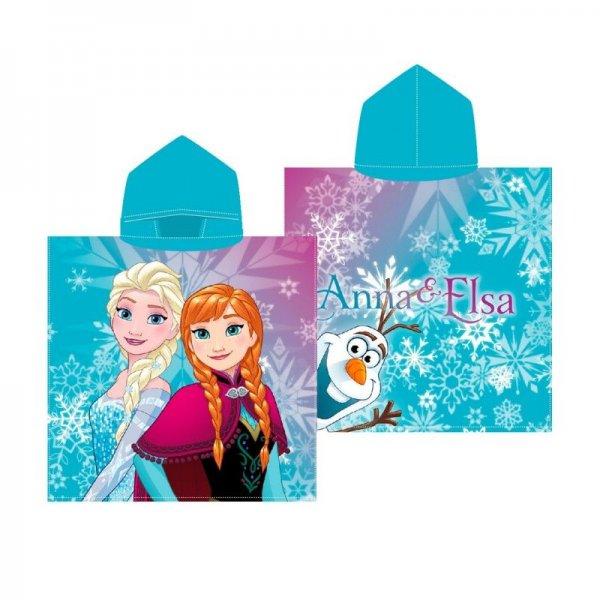 Kukuxumusu πόντσο Frozen Anna & Elsa 100% Βαμβάκι 60x120 cm