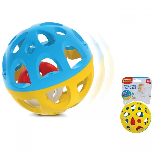 Mg Toys Μπαλίτσα κουδουνίστρα Easy Grasp Rattle Ball 3m+