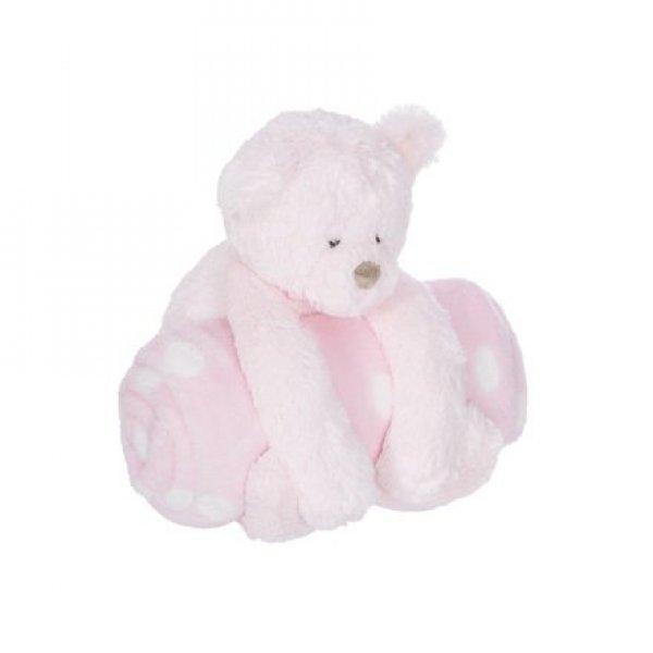 Manon de pres Κουβέρτα Αγκαλιάς και Αρκουδάκι Ροζ