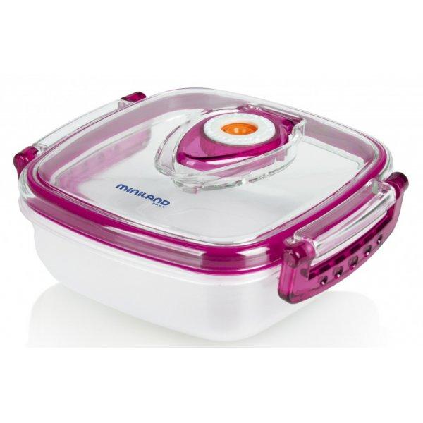 Miniland δοχείο μεταφοράς και αποθήκευσης φαγητού hermifresh pink 330ml