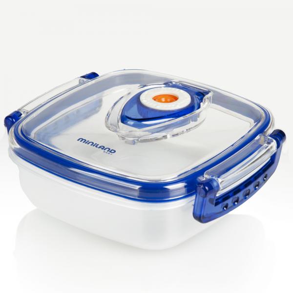 Miniland δοχείο μεταφοράς και αποθήκευσης φαγητού hermifresh blue 330ml