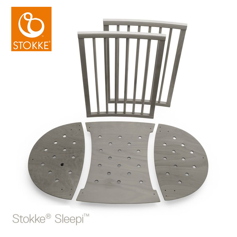 Stokke bed extension set επέκταση κρεβατιού 120cm Hazy Grey
