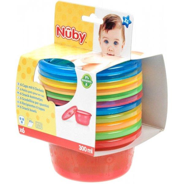 Nuby Στοιβαζόμενα Μπολ για Σνακ Wash or Toss 6 τεμ