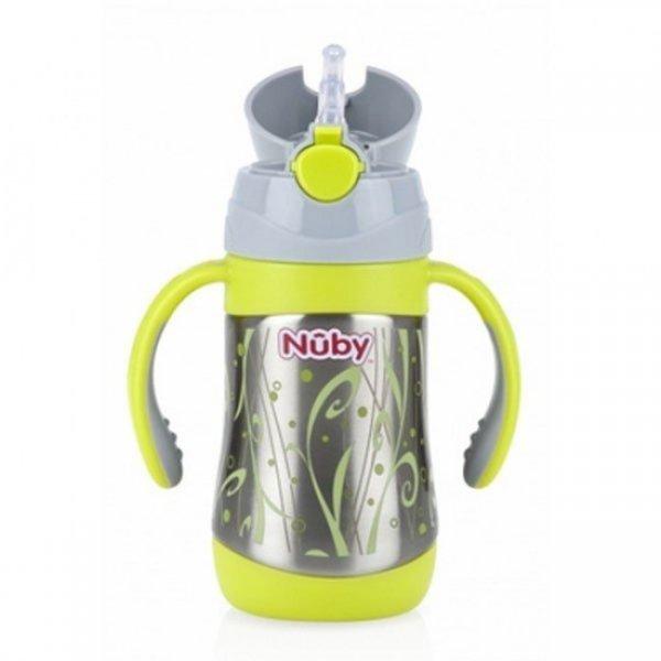 Nuby ποτήρι θερμός με χεράκια και push up στόμιο 280ml
