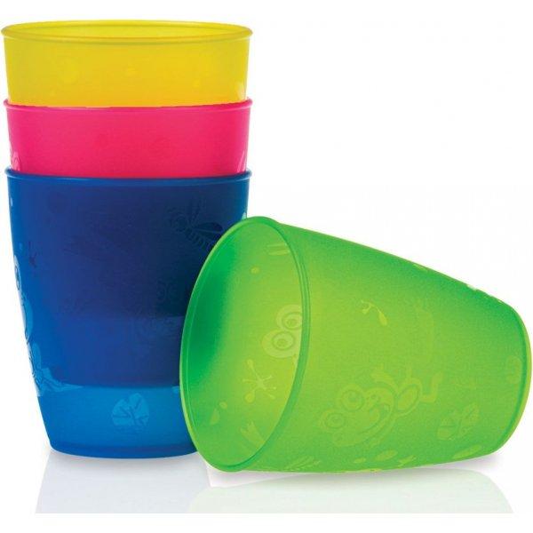 Nuby Ποτηράκια σετ 4 τεμ. χρωματιστά multi cups 9 m+