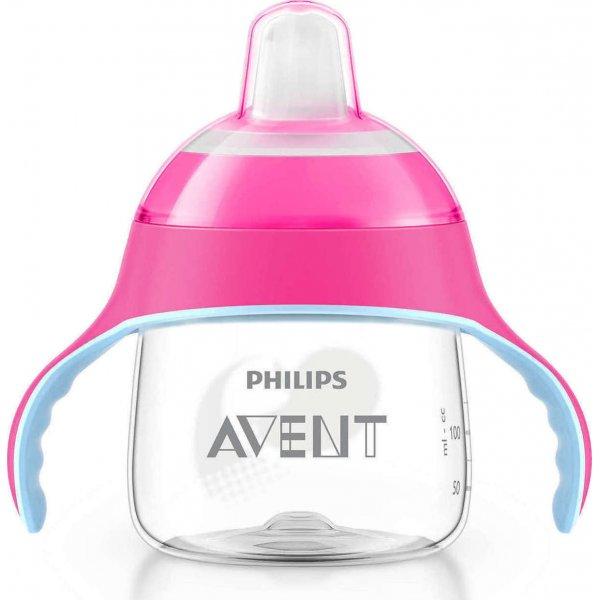 Philips Κύπελλο 200ml με λαβές /ροζ