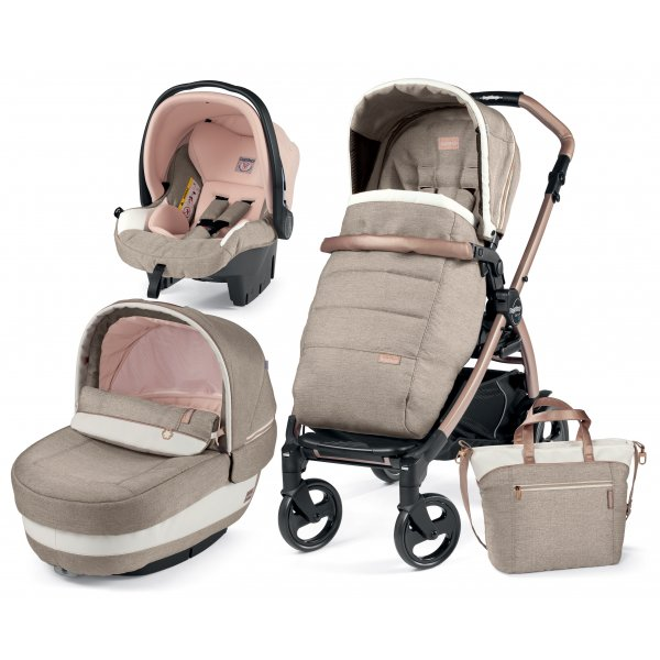 Peg Perego Παιδικό καρότσι Book Plus 51 Set Elite Modular Mon Amour Elite και δώρο το kit culla