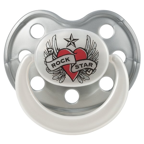Rock star Baby Heart & Wings βρεφική πιπίλα μέγεθος 2