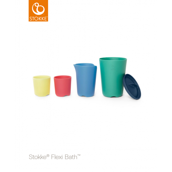 Stokke® Flexi Bath® Toy Cups Multi Colour