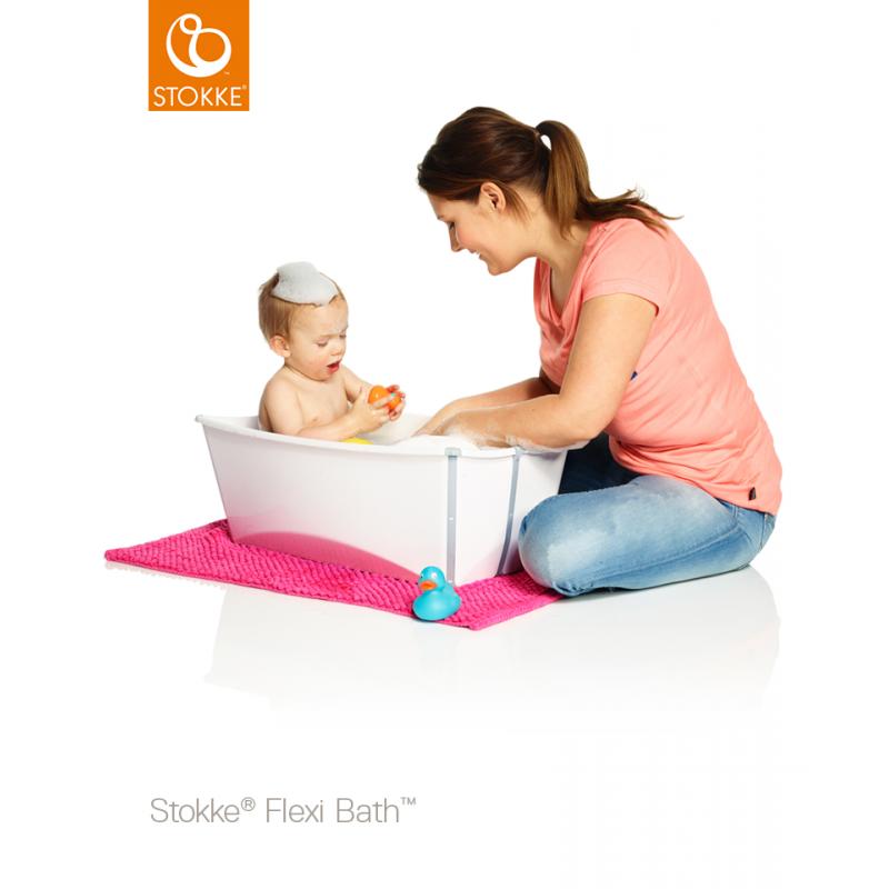 Stokke Flexi bath με βάση νεογέννητου και θερμοευαίσθητη βαλβίδα White