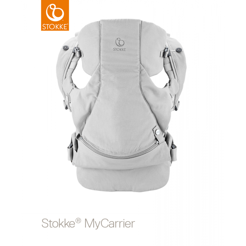 Stokke MyCarrier Front and Back Grey με οργανικό βαμβάκι