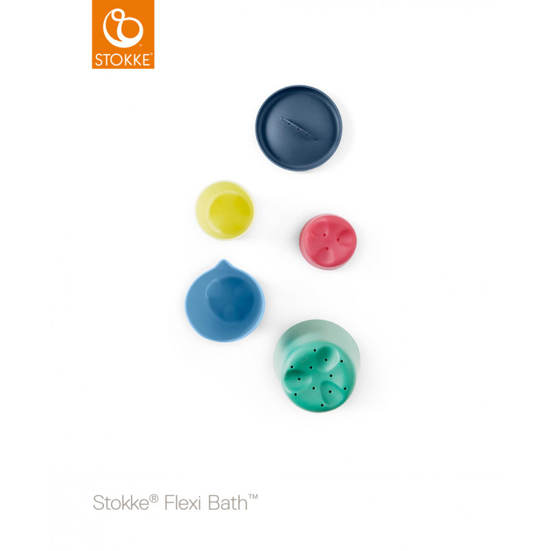 Stokke® Flexi Bath® Toy Cups Multi Colour