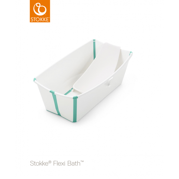 Stokke  Flexibath Bundle μπανάκι με  Newborn Support White Aqua