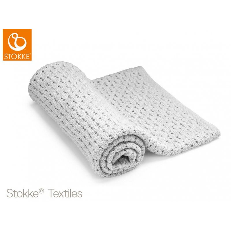 Stokke® Blanket Merino Wool Light Grey