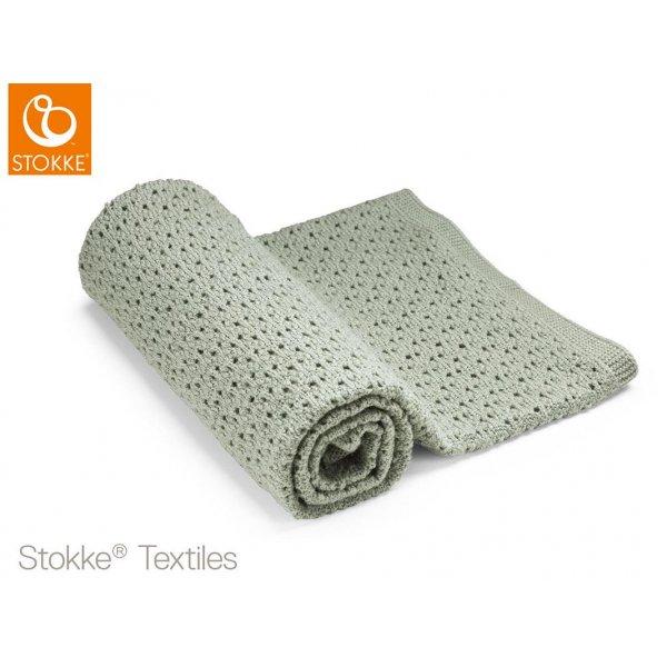 Stokke Blanket Merino Wool μάλινη κουβέρτα Green