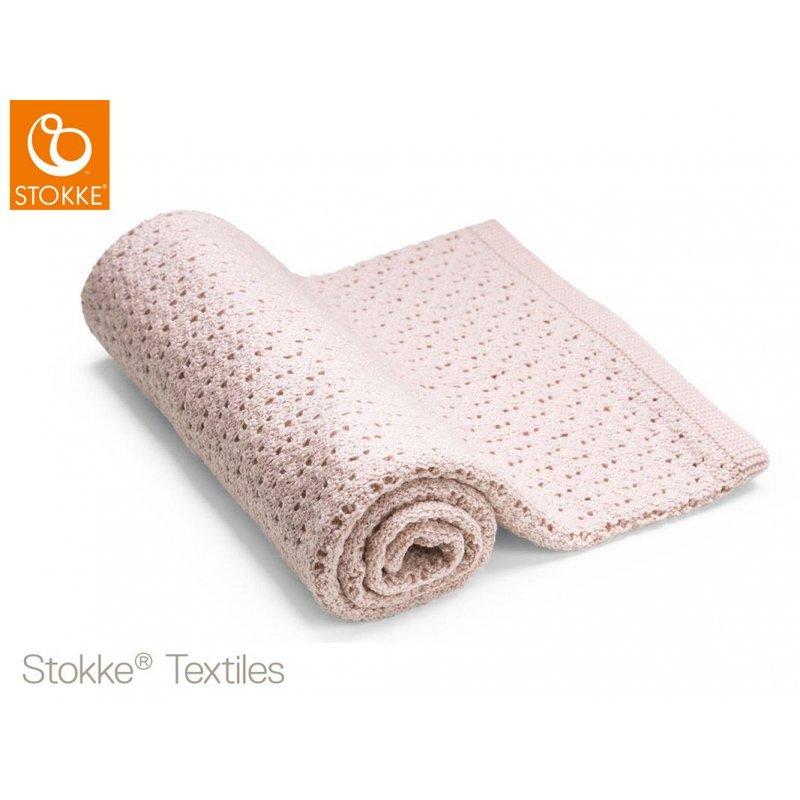 Stokke Blanket Merino Wool μάλινη κουβέρτα Pink